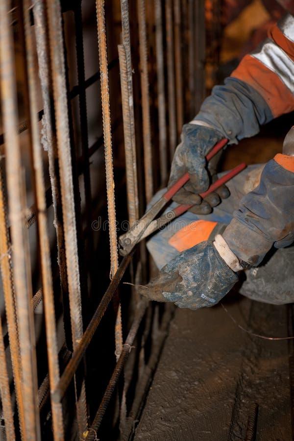 Iron fixer. A iron fixer at work royalty free stock photo