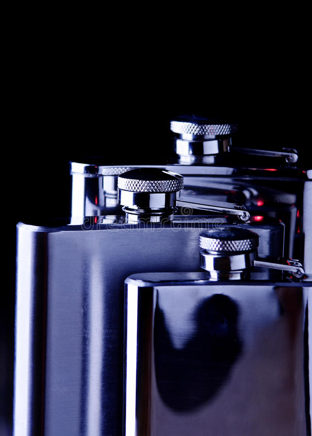 Iron flasks royalty free stock photos