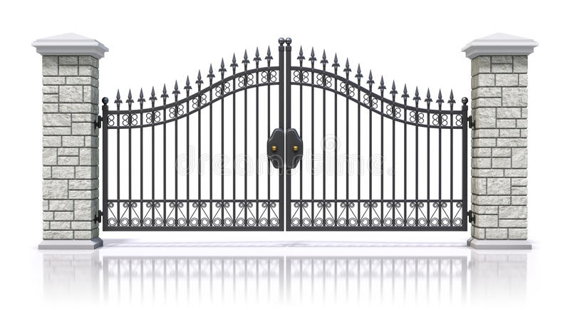 Iron gate vector illustration