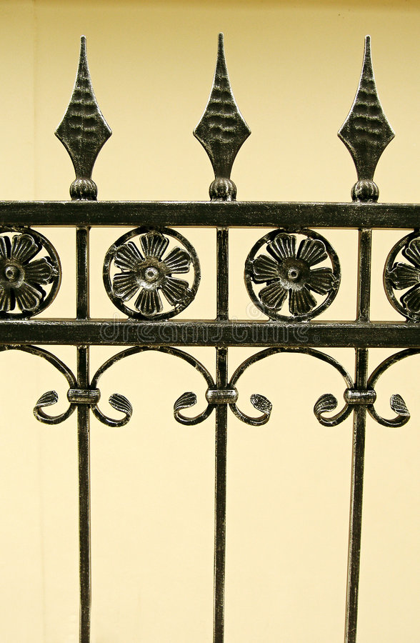 Download Iron gate details stock image. Image of black, decor, gardens - 4882153