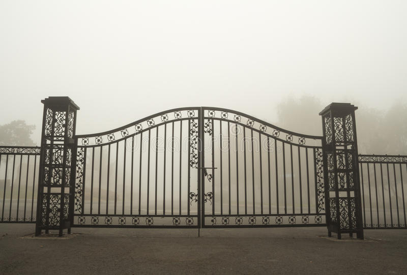 Iron gate royalty free stock photo