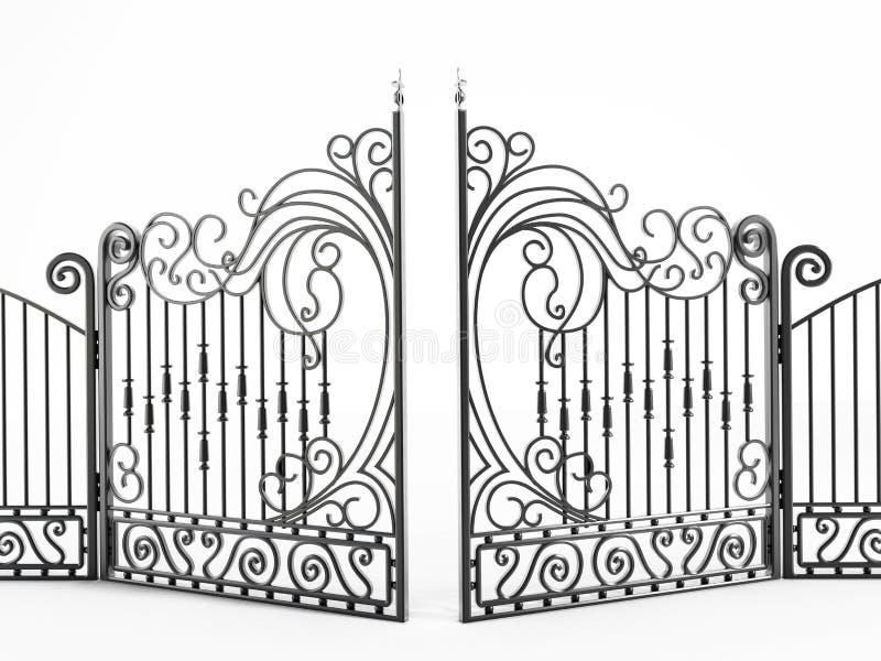 Iron gate. Isolated on white background royalty free illustration