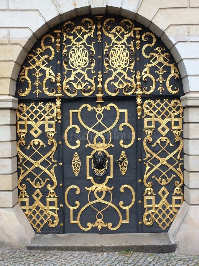 Iron, Gate, Metal, Wall stock image
