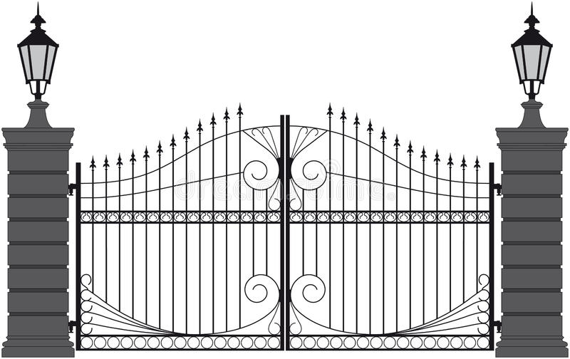 Iron Gate 2 Stock Vector Illustration Of Isolated