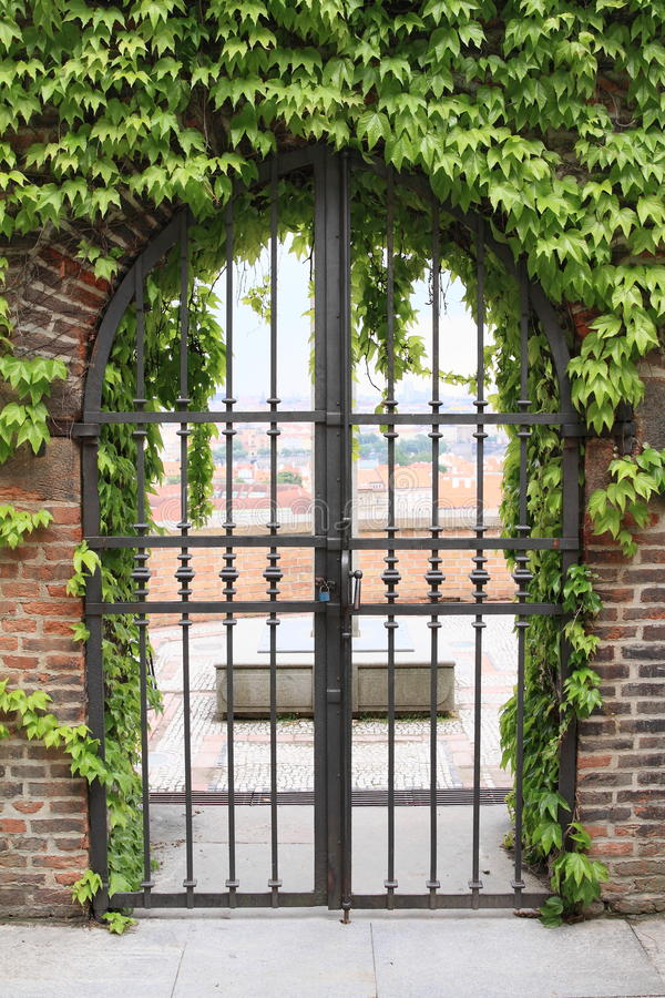 Iron gates stock images