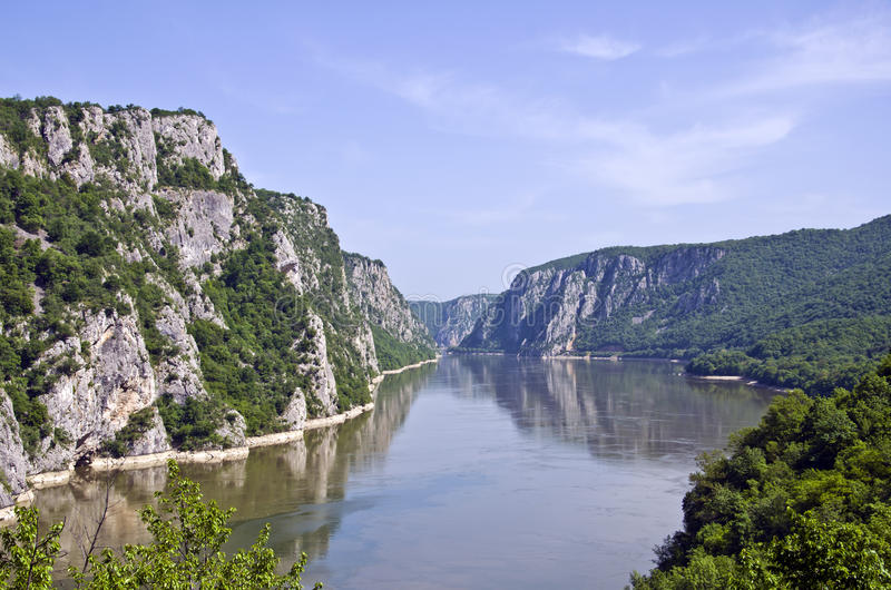 Iron Gates - Djerdap, Serbia. The Iron Gates is a gorge on the Danube River. The main feature and attraction of the Djerdap National Park, Serbia royalty free stock photos