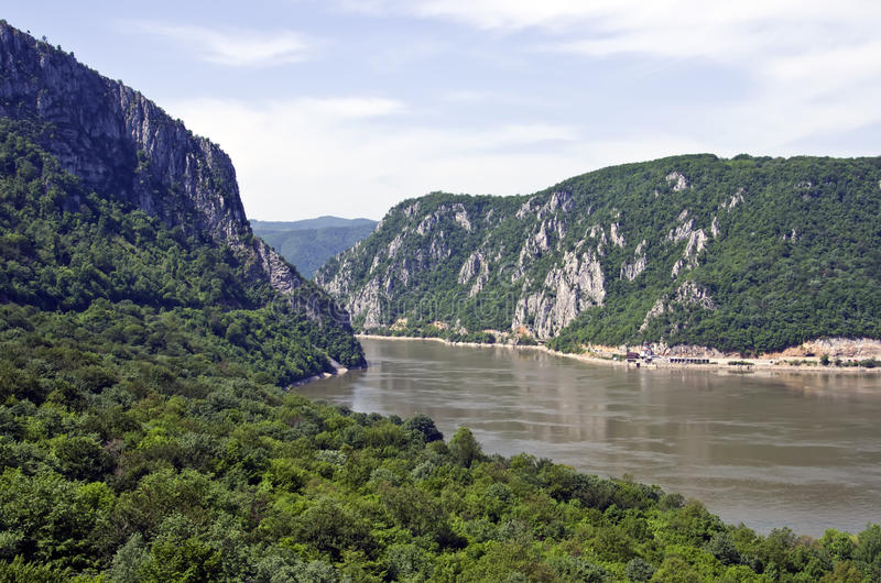 Iron Gates - Djerdap, Serbia. The Iron Gates is a gorge on the Danube River. The main feature and attraction of the Djerdap National Park, Serbia royalty free stock image