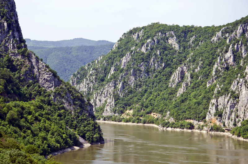 Iron Gates - Djerdap, Serbia. The Iron Gates is a gorge on the Danube River. The main feature and attraction of the Djerdap National Park, Serbia stock photo