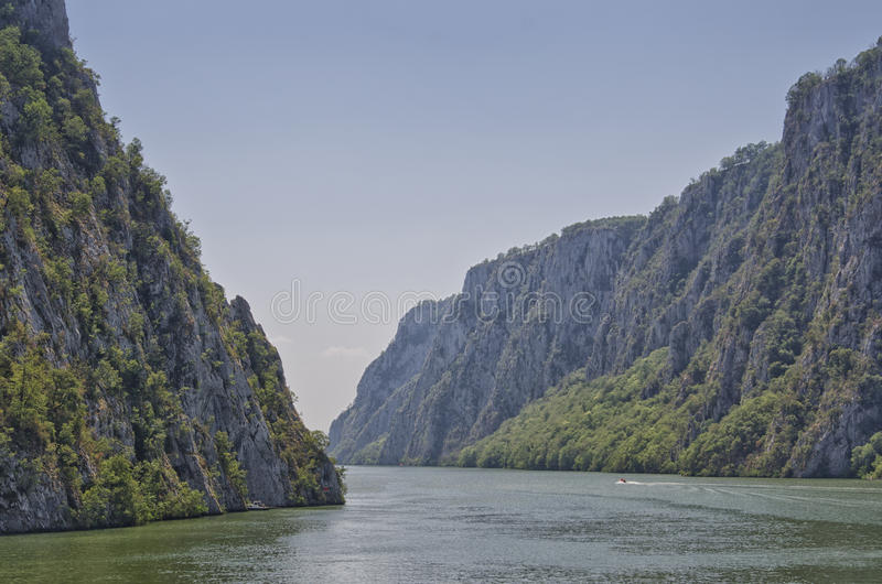 Iron Gates - Djerdap, Serbia. The Iron Gates is a gorge on the Danube River. The main feature and attraction of the Djerdap National Park, Serbia stock image