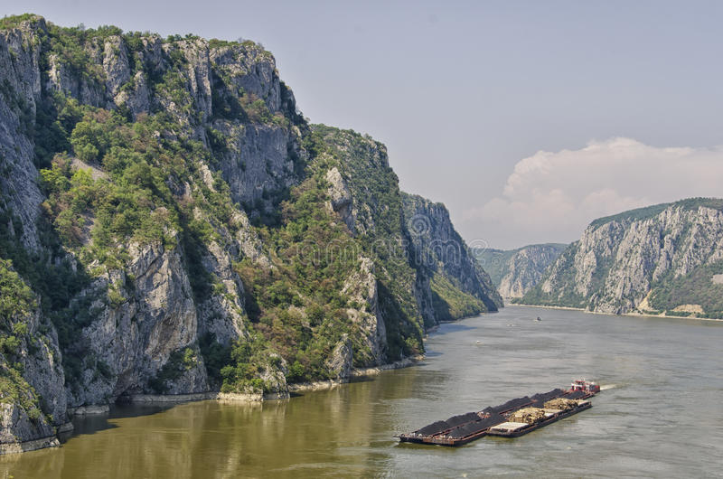 Iron Gates - Djerdap, Serbia. The Iron Gates is a gorge on the Danube River. The main feature and attraction of the Djerdap National Park, Serbia royalty free stock images