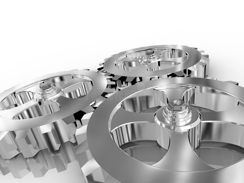 Download Iron gears stock illustration. Illustration of action - 9798335