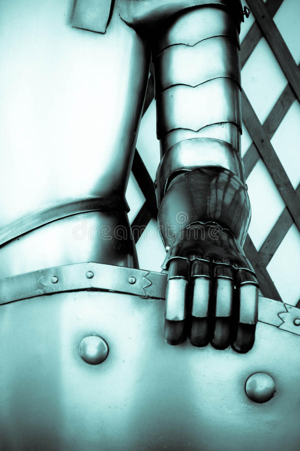 The iron hand of a knight royalty free stock photo
