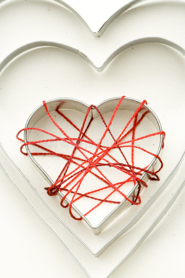 Download Iron Heart Forms And Cotton Cobweb Stock Photo - Image: 7581708