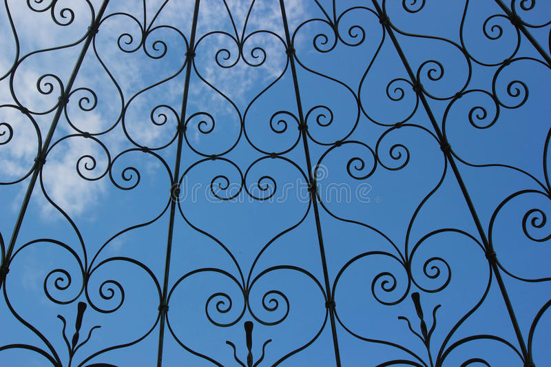 Iron Heart Motif Background royalty free stock images