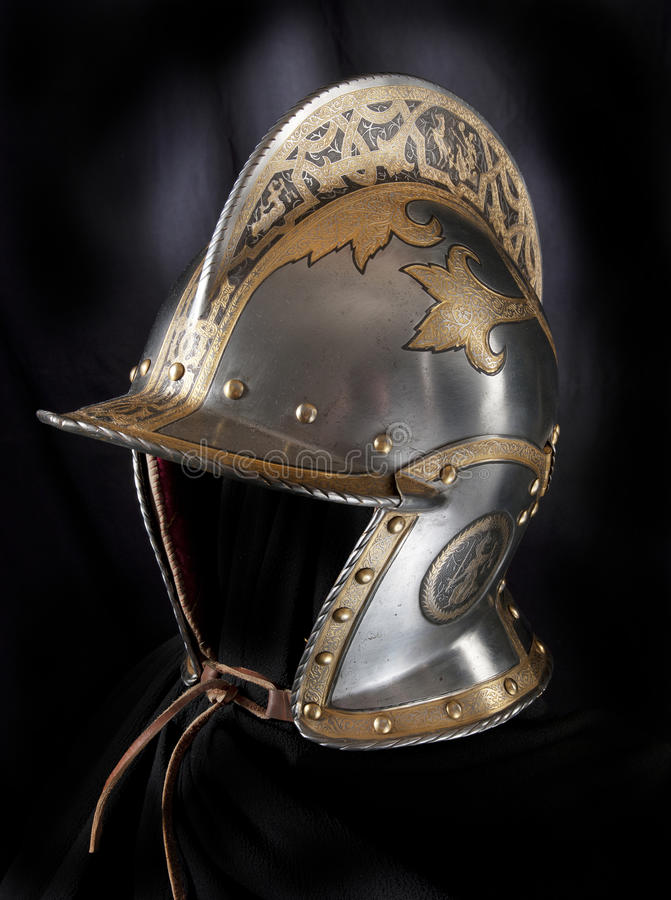 Iron helmet stock images