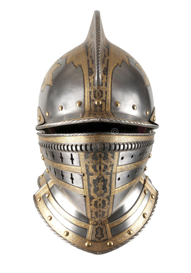 Iron helmet stock photos