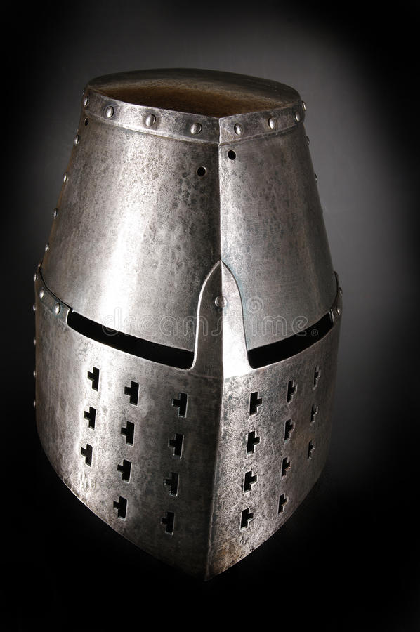 Download Iron helmet stock image. Image of knight, rivets, protection - 26342505