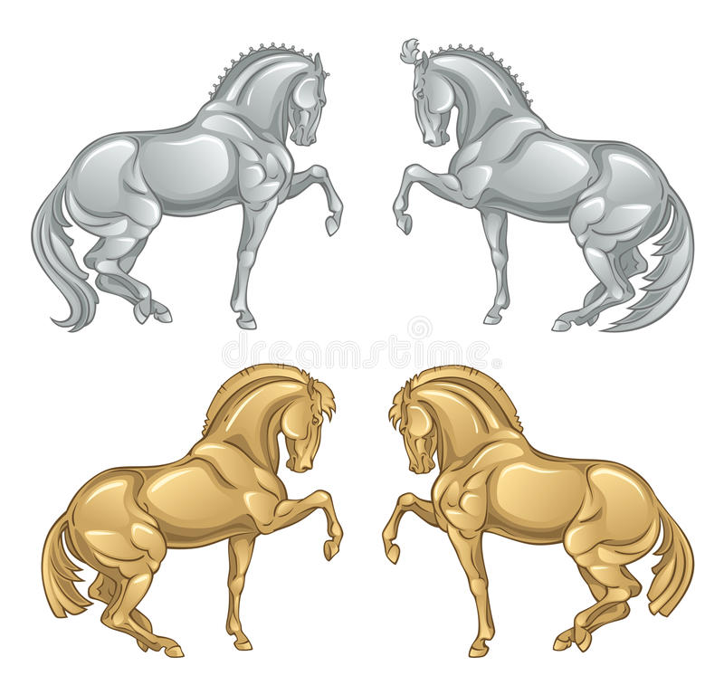 Download Iron horse stock vector. Image of foal, illustration - 14883042