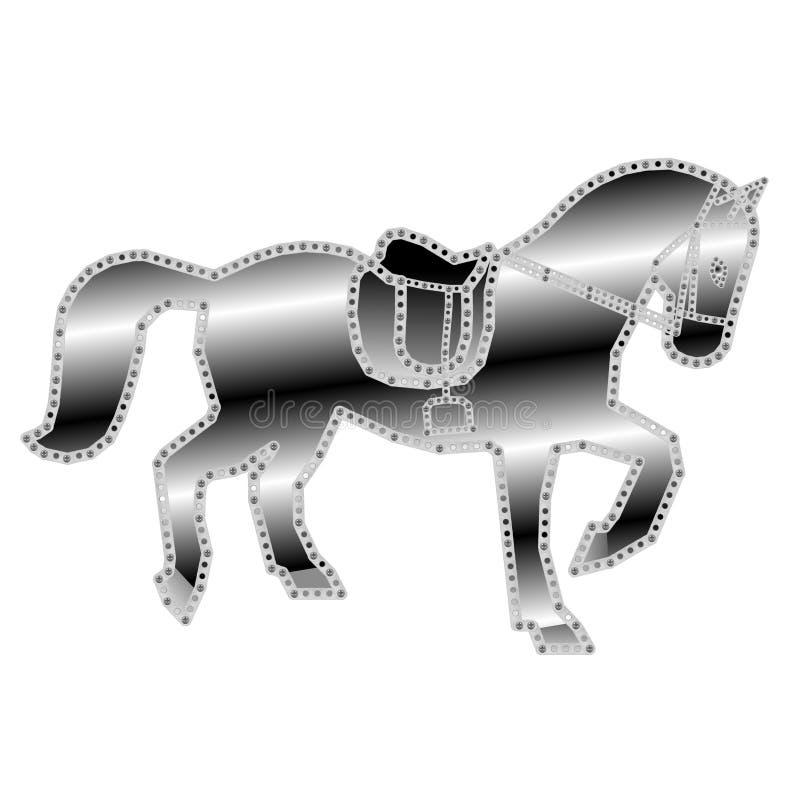 Iron horse sculpture royalty free stock photos