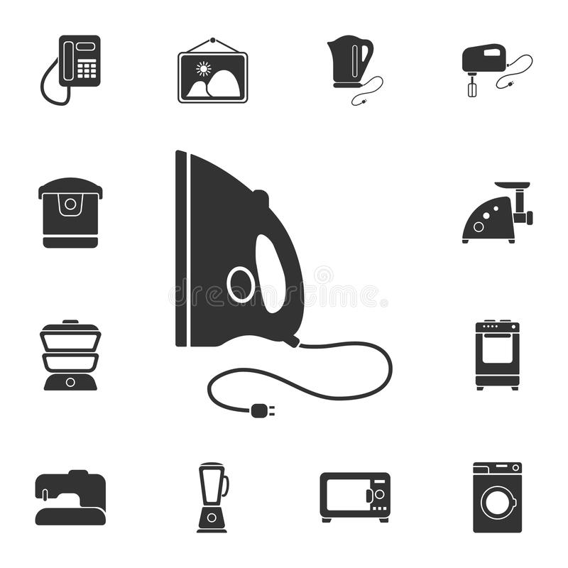 Iron icon. Simple element illustration. Iron symbol design from Home Furniture collection set. Can be used for web and mobile. On white background vector illustration