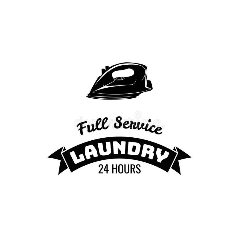 Iron Label. Laundry Badge. Bubbles Vector Illustration. Isolated On White stock illustration
