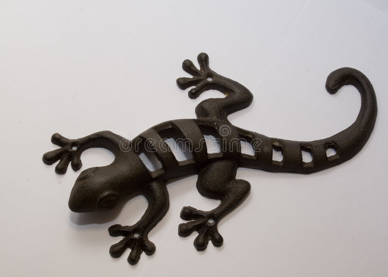Iron lizard royalty free stock photography
