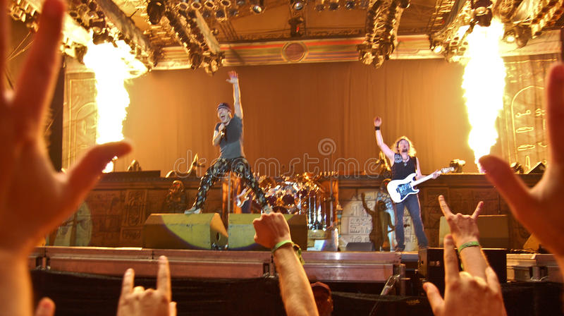 Iron Maiden In Concert Editorial Stock Image