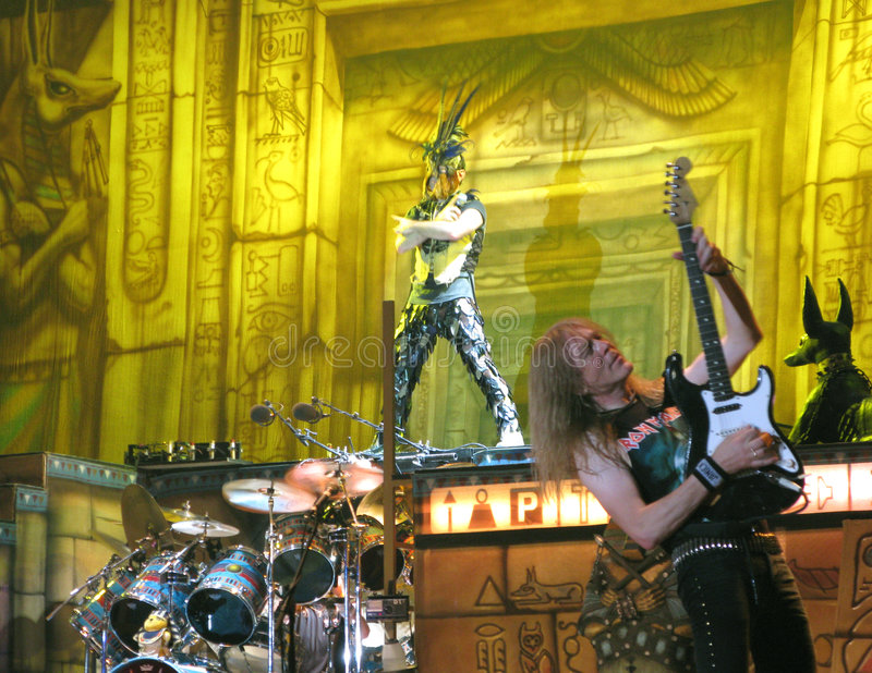 Download Iron Maiden on tour - editorial photography. Image of singer - 5979732
