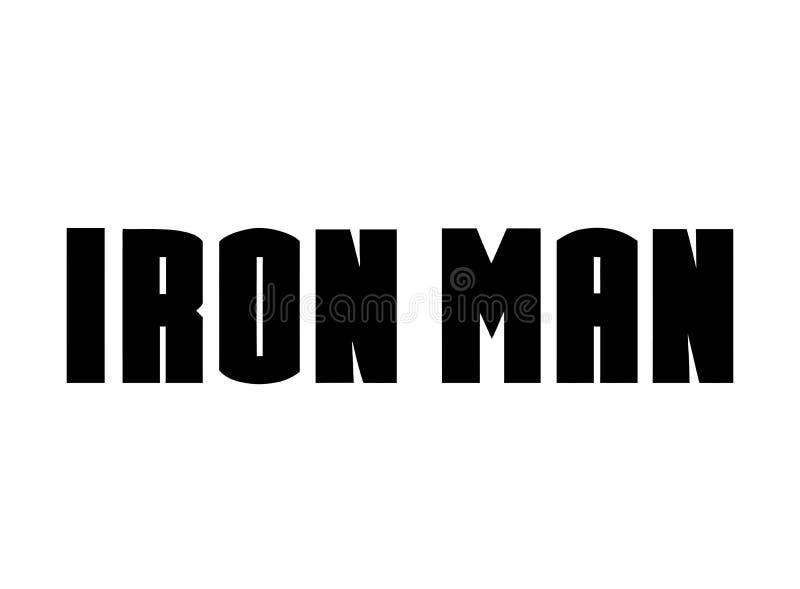 Iron Man logo, bohater royalty ilustracja