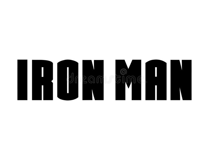 Iron Man Logo, superhero. Best quality illustration of famous Iron Man logo isolated on transparent background. High version vector available in illustrator royalty free illustration