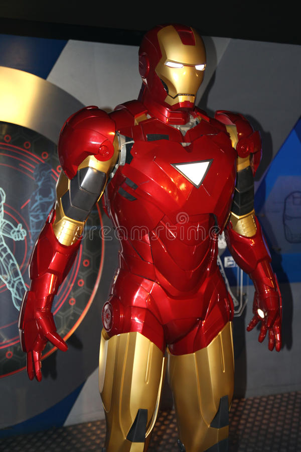 Iron Man at Madame Tussaud's stock photo