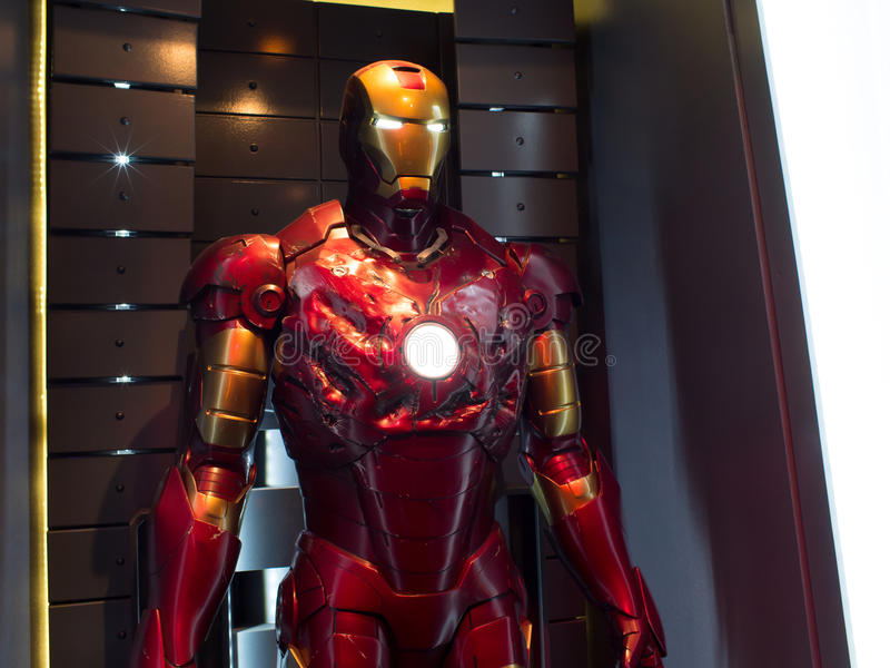 Iron Man Suit of Armor damaged stock photography