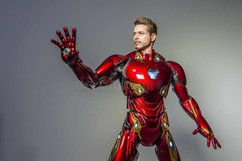 Iron Man-Zahl Kennzeichen L 50 Skala des Unendlichkeits-Krieges 1/6 lizenzfreie stockbilder