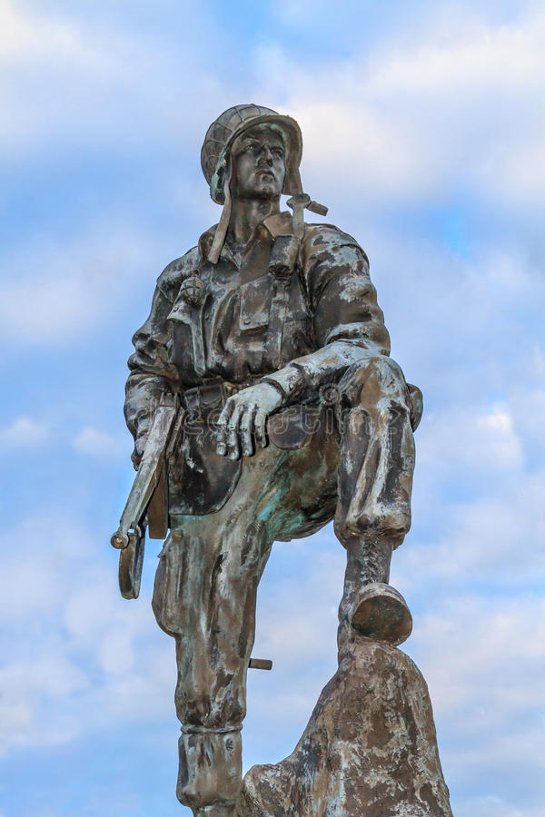 Free Iron Mike Statue In Normandy, France Royalty Free Stock Photos - 30722498