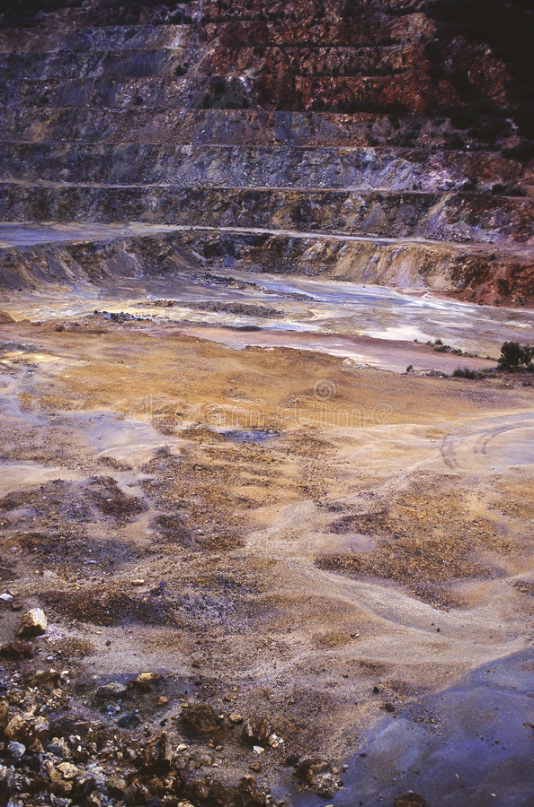 Iron mine stock photo