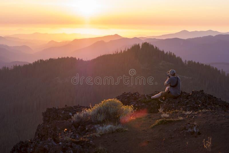 Iron Mountain podwyżka w Oregon zdjęcia stock