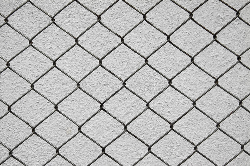 Download Iron Net And White Cement Wall Royalty Free Stock Image - Image: 21118326