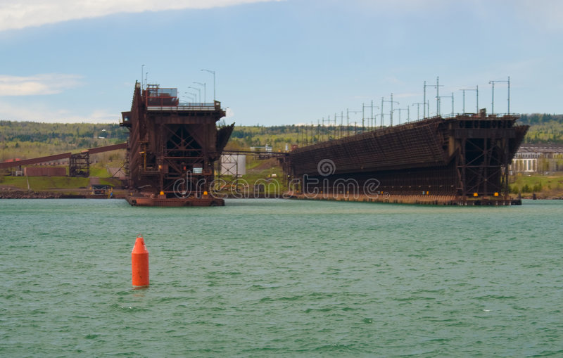 Download Iron Ore Dock stock photo. Image of blue, outdoors, minnesota - 5562032