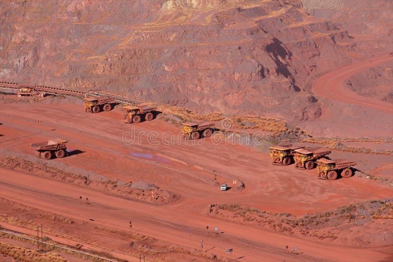 Iron ore mining royalty free stock photos