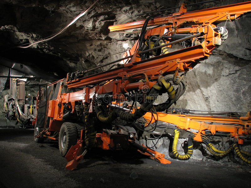Iron ore mining royalty free stock image