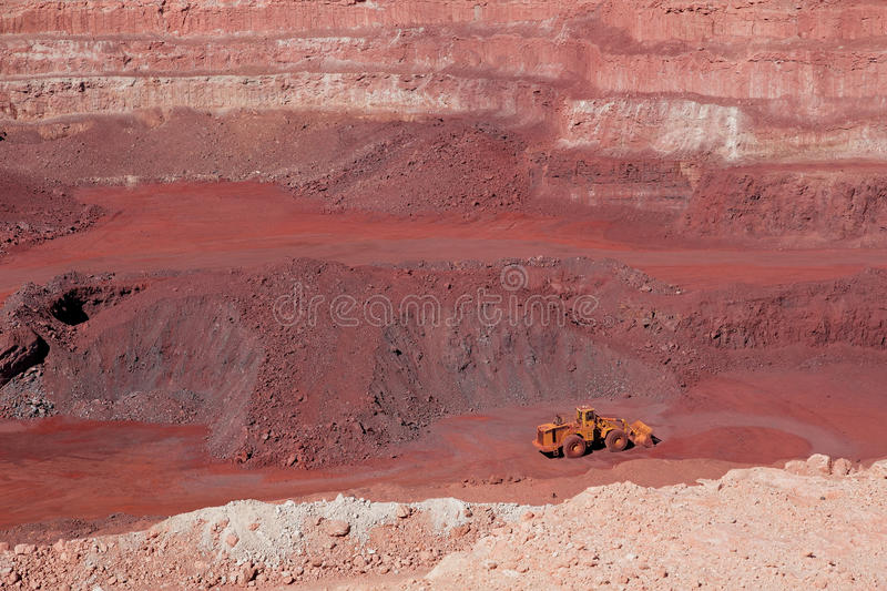 Download Iron ore mining stock photo. Image of large, layers, iron - 27859916