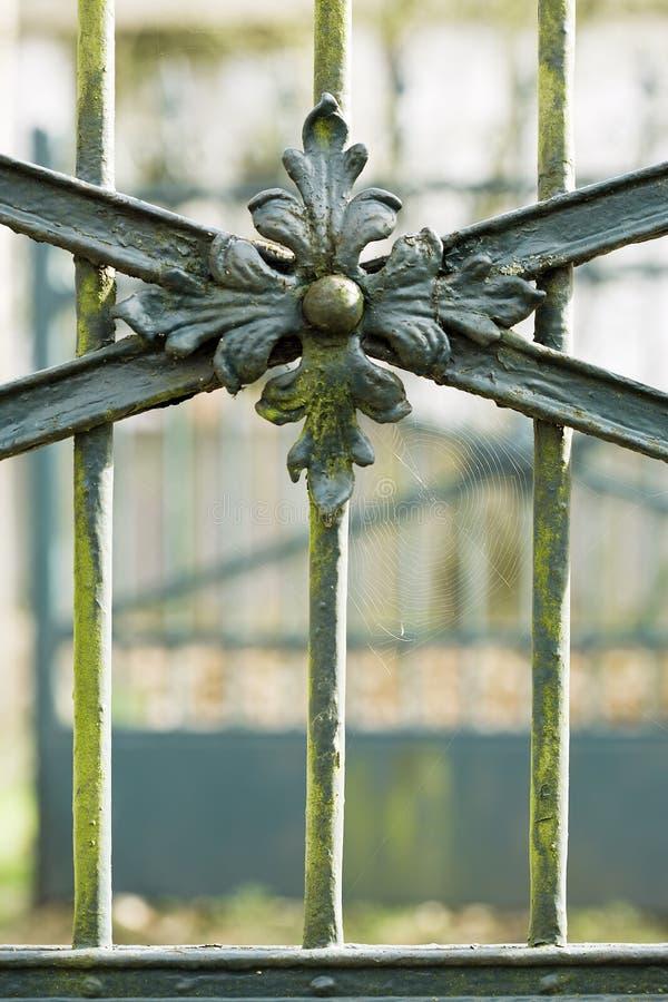 Iron portal detail royalty free stock photo
