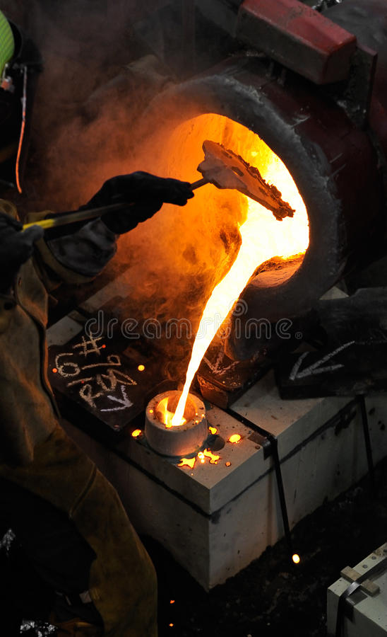 Iron Pour - Blocking The Royalty Free Stock Images