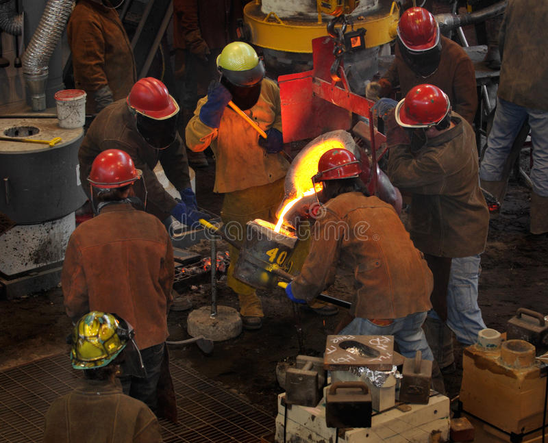 Download Iron Pour - Filling The Cup Stock Photo - Image: 9753014