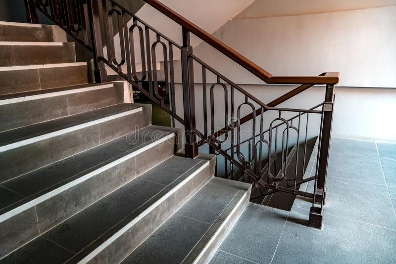 Download Iron Railing With Black Stair Stock Image   Image Of Structure,  Railing: 114749483