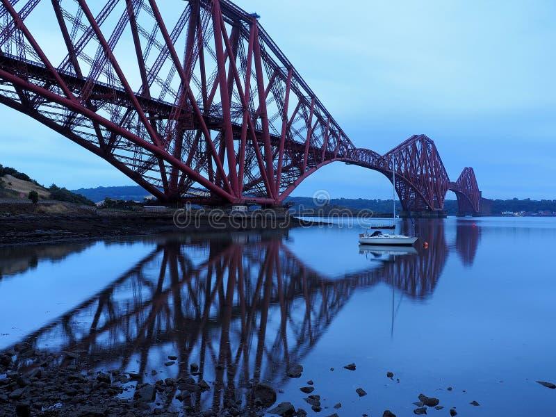 The bridge in Edinburgh. An iron railway bridge over the Leith River in the Scottish city of Edinburgh royalty free stock image