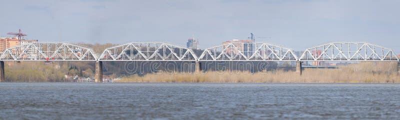 Iron railway bridge. stock images
