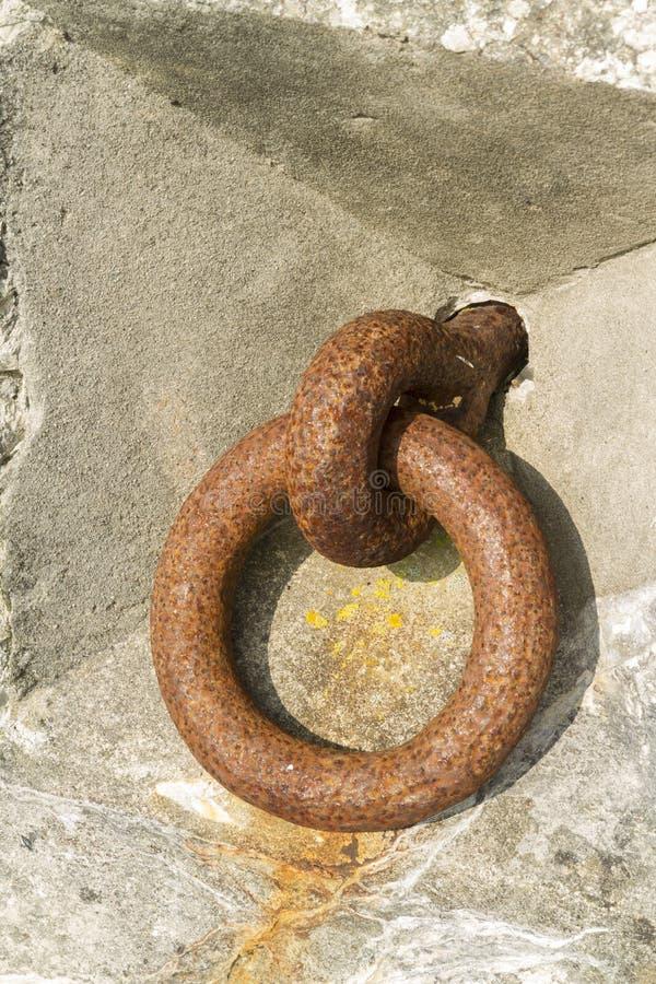 Free Iron Ring Set In Concrete. Royalty Free Stock Image - 42722146