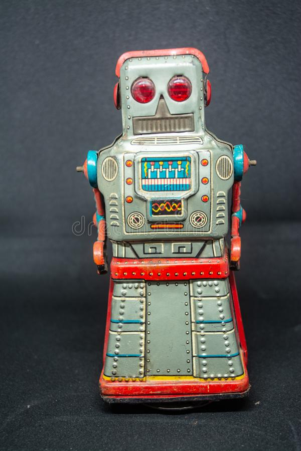 Iron robot toys for children to learn and have fun stock images