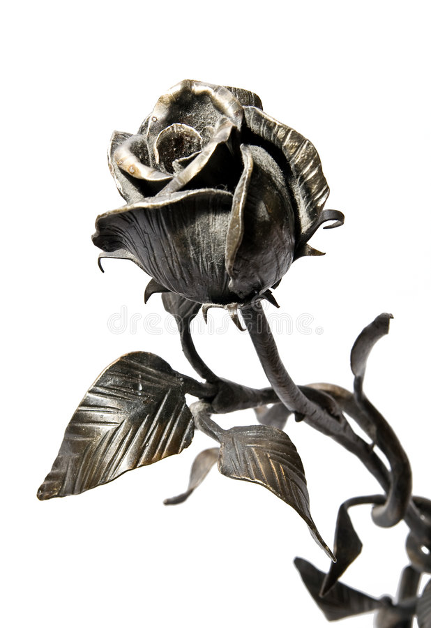 Download Iron rose stock image. Image of rose, metal, iron, isolated - 7723335